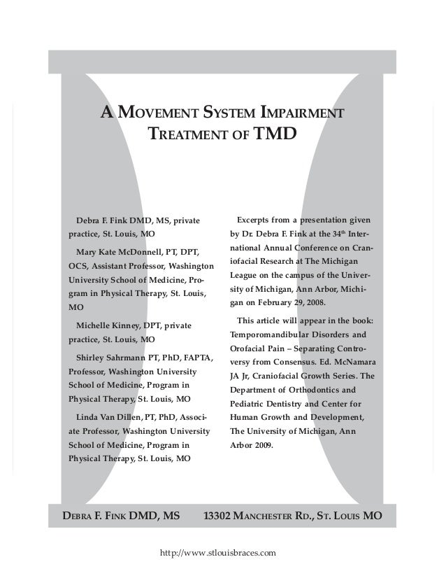 Dr. Debra Fink's presentation about how to reduce or eliminate tmd/tmj pain