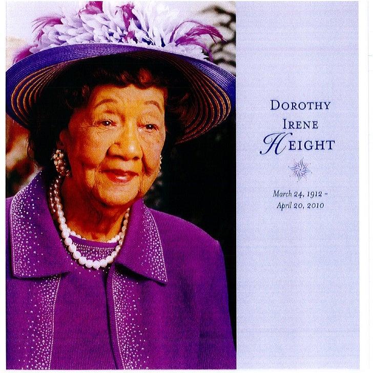 Dr.  Dorothy  Irene  Height