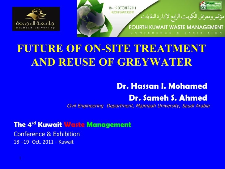 Dr. Hassan Mohamed - Future of On-Site Treatment and Reuse