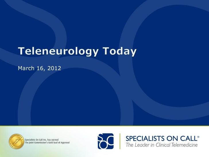Teleneurology Today