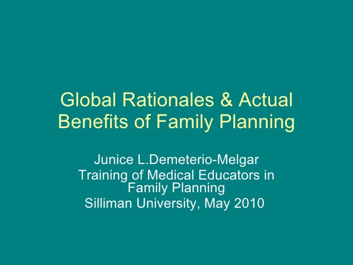 Dr. j melgar  family planning and development