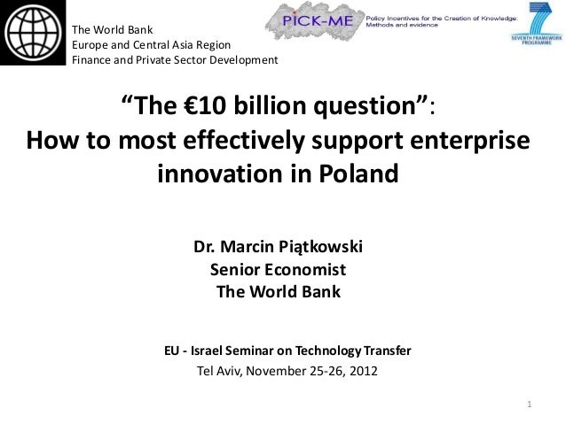 """The World Bank   Europe and Central Asia Region   Finance and Private Sector Development       """"The €10 billion question"""":..."""
