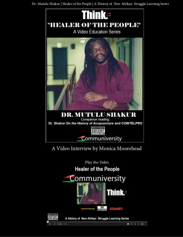 Dr. Mutulu-Shakur | Healer of the People | A History of New Afrikan Struggle Learning Series             A Video Interview...