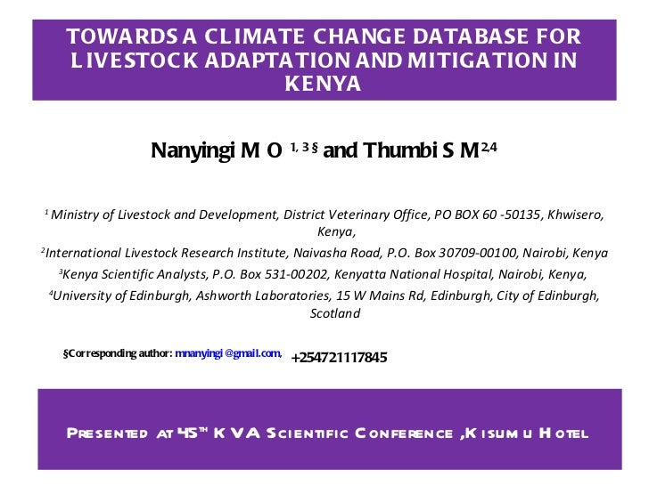 Dr. Nanyingi Climate Change
