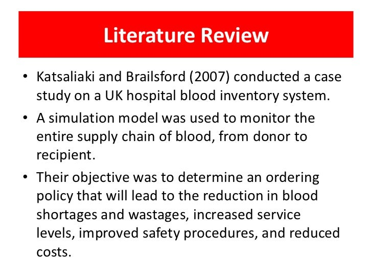 Literature review on supply chain management