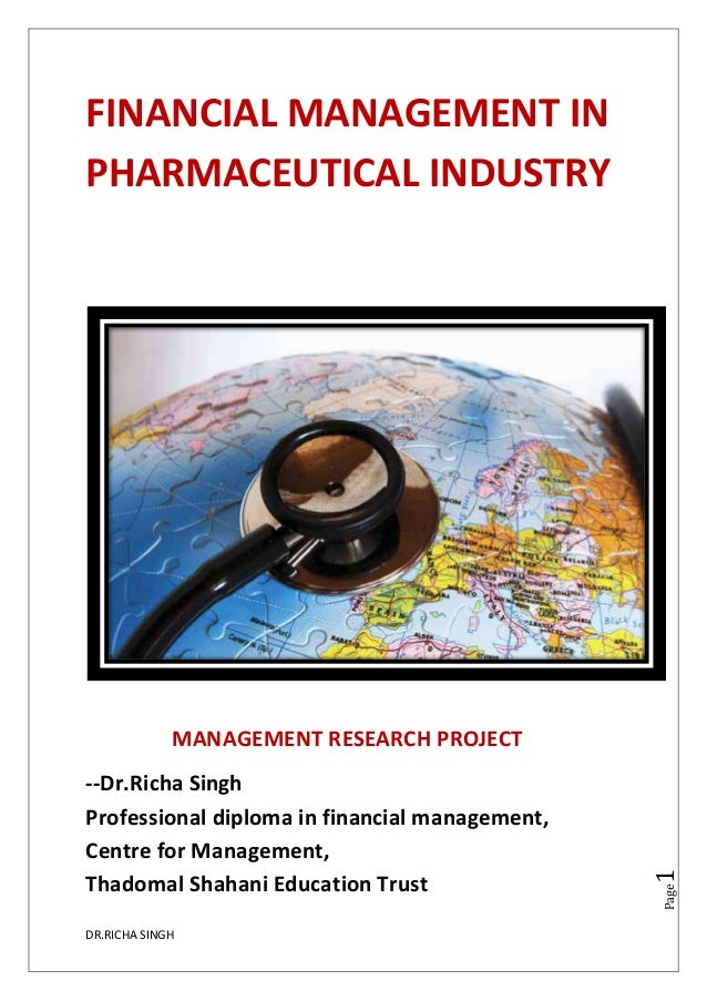 Financial Planning in Pharmaceutical industry