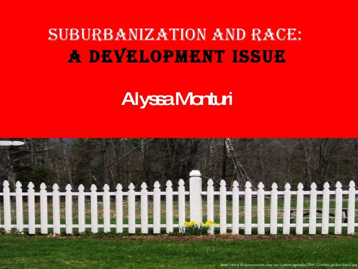 Suburbanization and Race:  A Development Issue Alyssa Monturi http://www.thegoosesroost.com/wp-content/uploads/2009/12/whi...