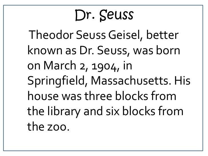Theodor Seuss Geisel powerpoint