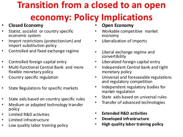 Open Economy vs. Closed Economy