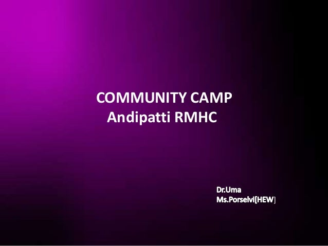 COMMUNITY CAMP Andipatti RMHC                  ]