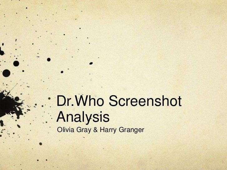 Dr.Who ScreenshotAnalysisOlivia Gray & Harry Granger