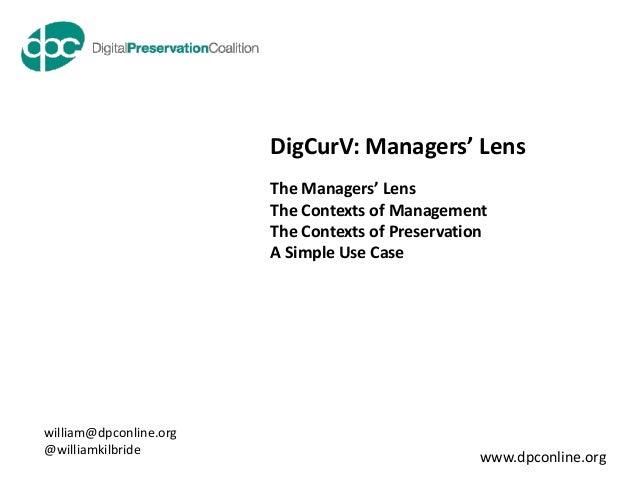 DigCurV Managerial Lens