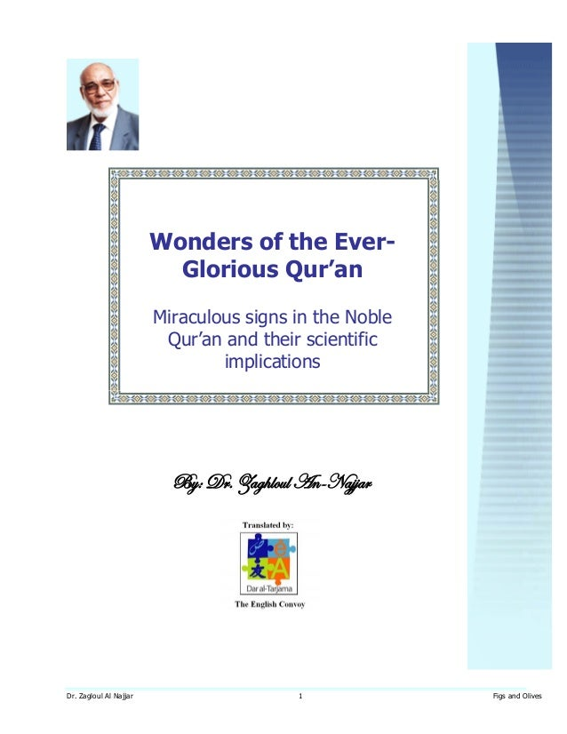 Dr. zaghloul an najjar - miracles in the qur'an