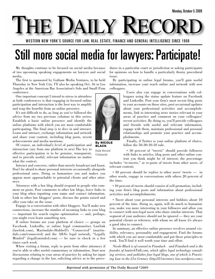 Still More Social Media for Lawyers: Interact!