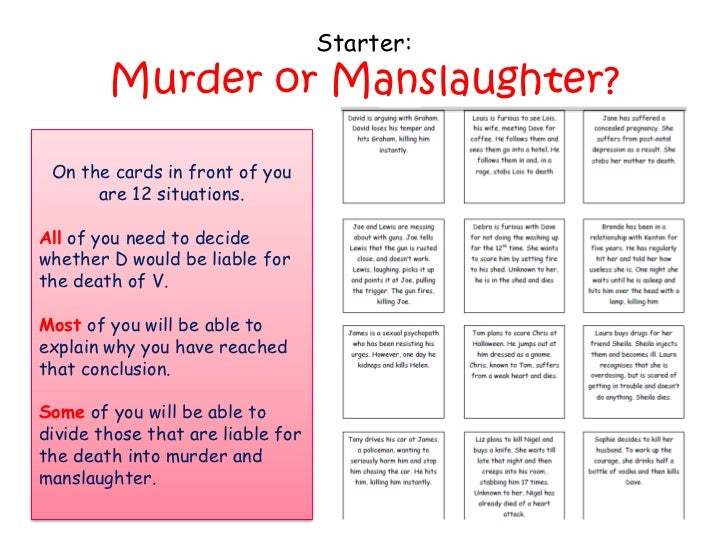 murder and involuntary manslaughter essay Paper , order, or assignment requirements abandoned heart homicide and involuntary manslaughter essay write an essay of 500 to 750 words in which you: define abandoned heart homicide and involuntary manslaughter.