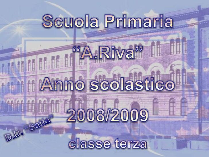 """Scuola Primaria<br />""""A.Riva""""<br />Anno scolastico 2008/2009<br />classe terza<br />D.D. """"Satta""""<br />"""
