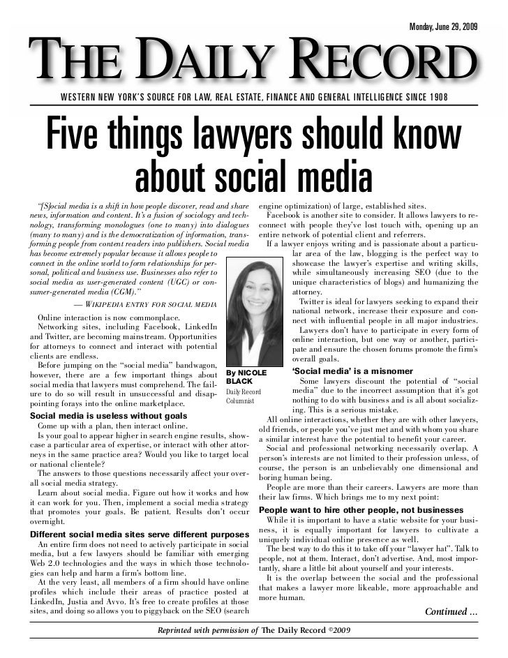 5 Things Lawyers Should Know About Social Media