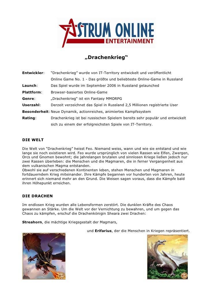 """""""Drachenkrieg""""   Entwickler:    """"Drachenkrieg"""" wurde von IT-Territory entwickelt und veröffentlicht                Online ..."""
