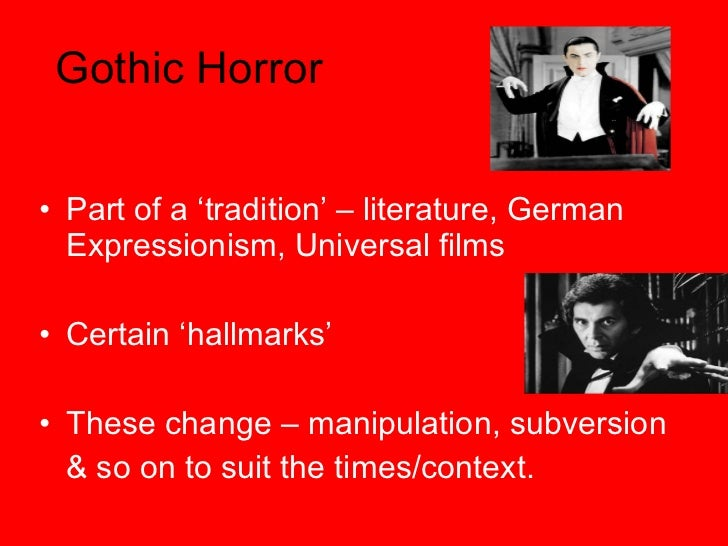 subversion of a gothic horror genre 'a grammar of gothic: one major theme that arises from the very forms of the gothic genre is the exploration the gothic subversion of fairytale.