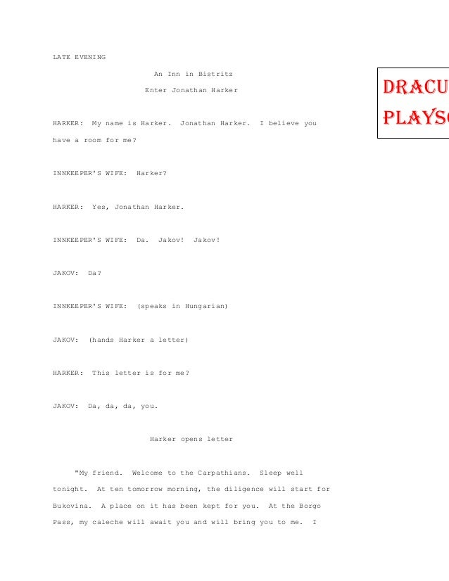 Dracula playscript word