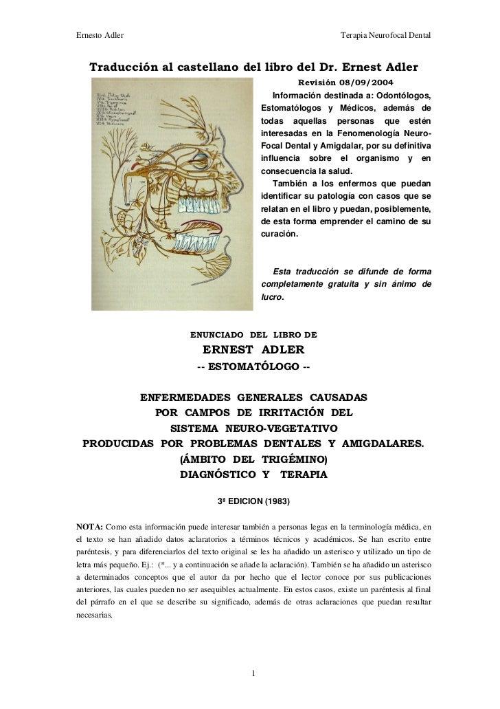 Odontologia Neurofocal. Dr.Adler