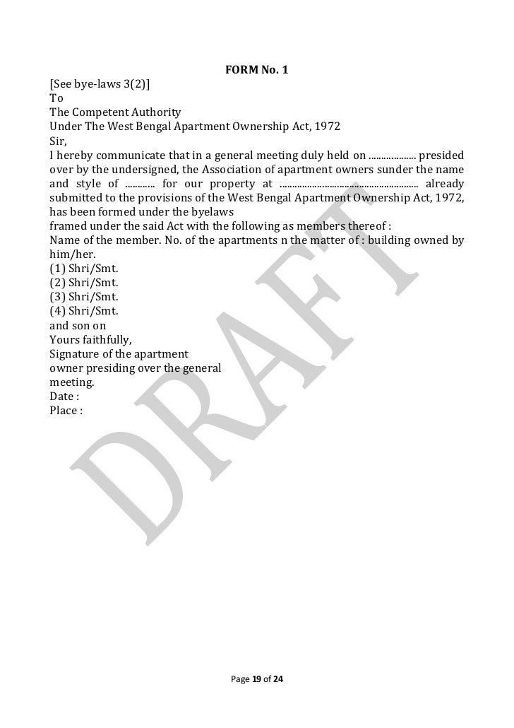 Draft Copy Of Bye Laws Kamal Residency 10th March12