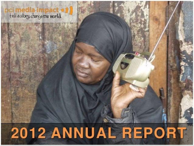 Draft annual report 2012