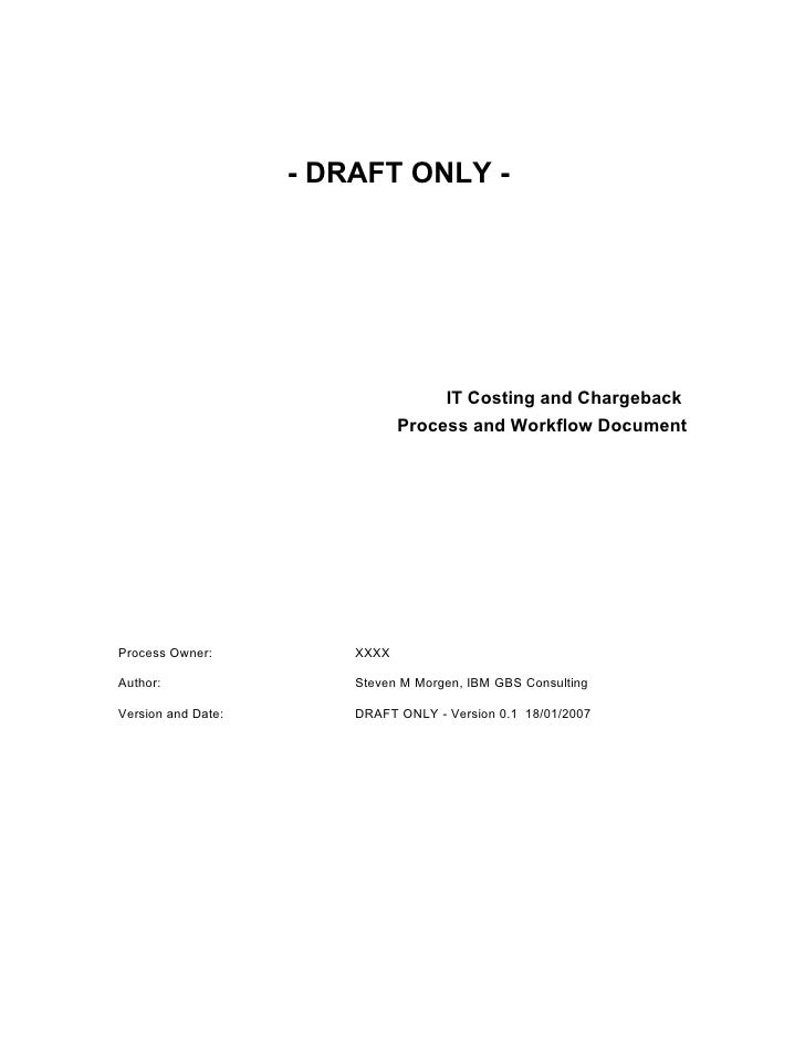 Draft Deliverable : IT Cost Recovery Process Implementation Playbook