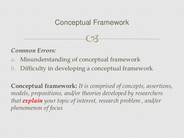 Developing Conceptual Framework Dissertation