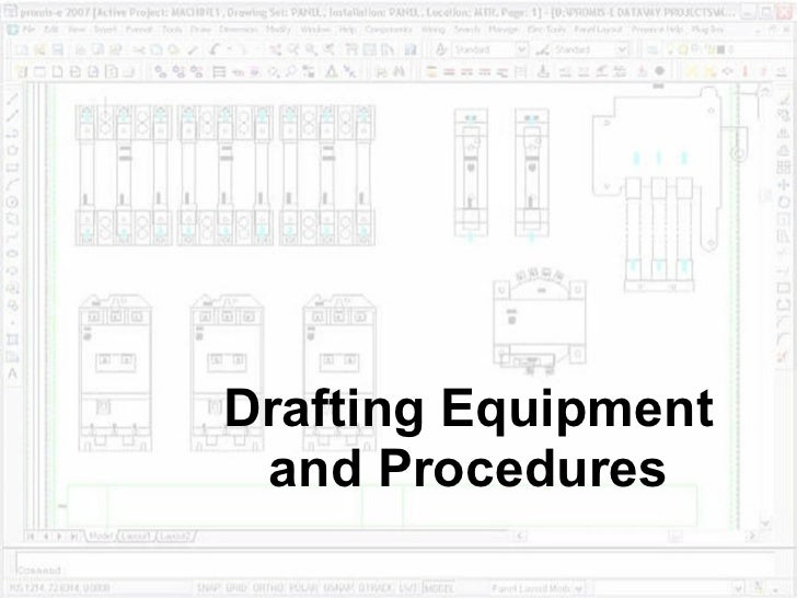 Drafting equipment and_procedures
