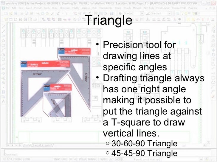 Tools Used In Drafting Equipment Or Instrument : Drafting equipment and procedures
