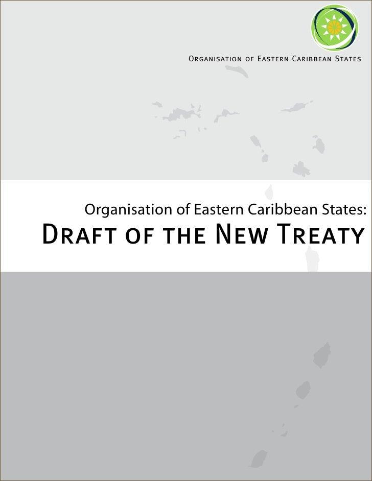 Draft Of The New Treaty of the OECS