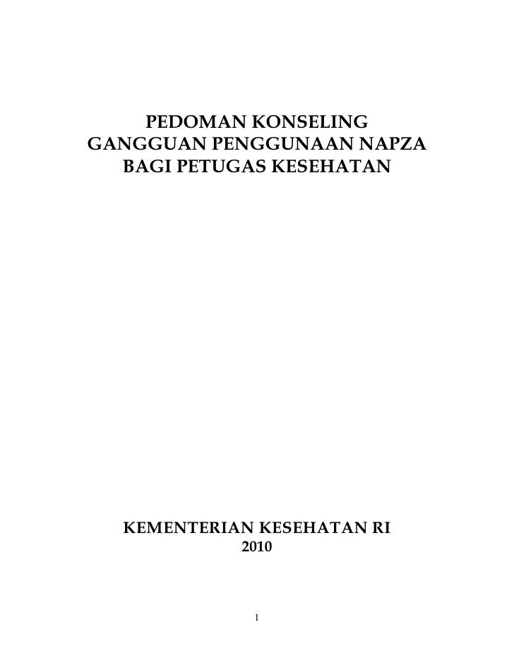 Draft Pedoman Konseling Adiksi Napza