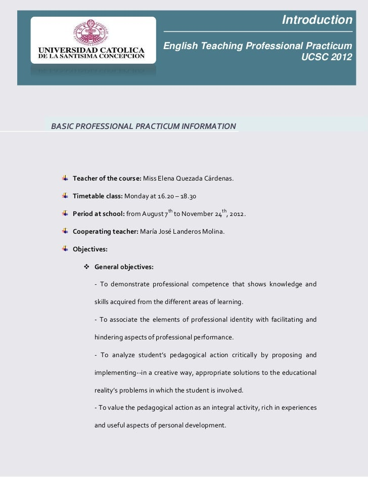 Introduction                                   English Teaching Professional Practicum                                    ...