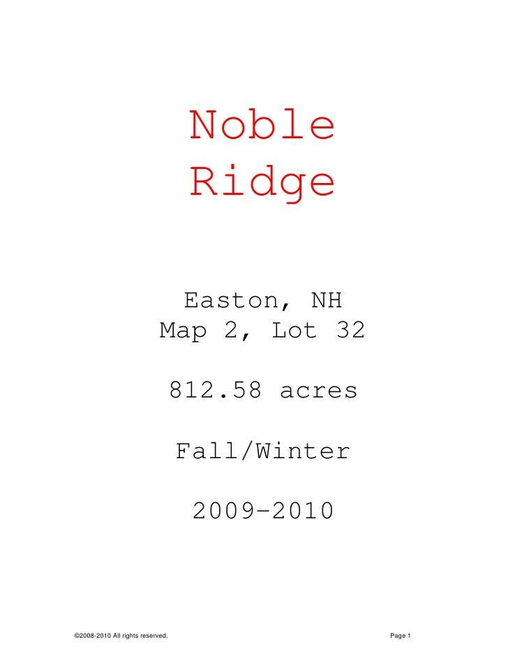 Draft Proposal For Noble Ridge  2