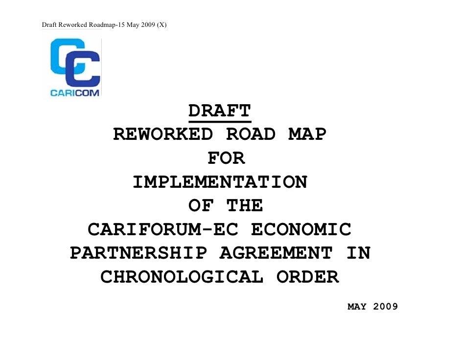 The CF-EC  Economic Partnership Agreement (EPA) Implementation Roadmap -15 May 2009