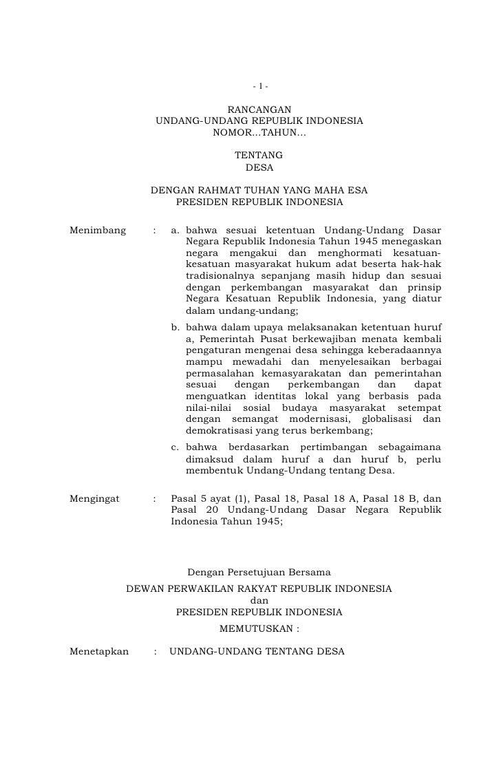 - 1-                          RANCANGAN                UNDANG-UNDANG REPUBLIK INDONESIA                        NOMOR...TAH...