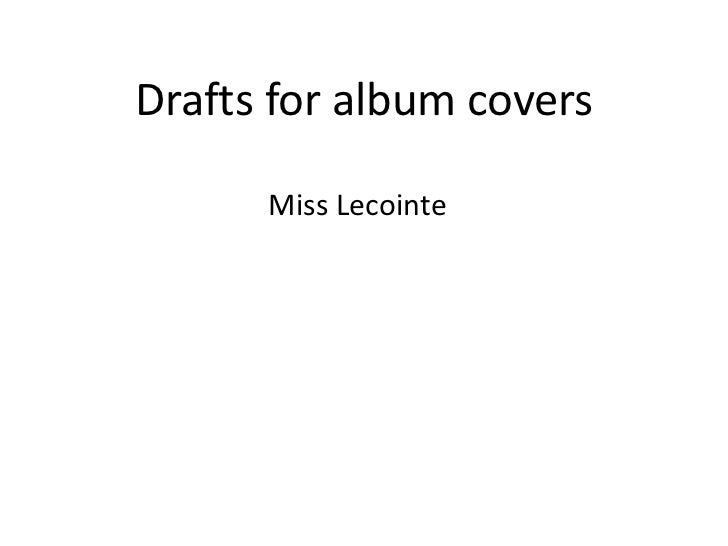 Drafts for album covers      Miss Lecointe