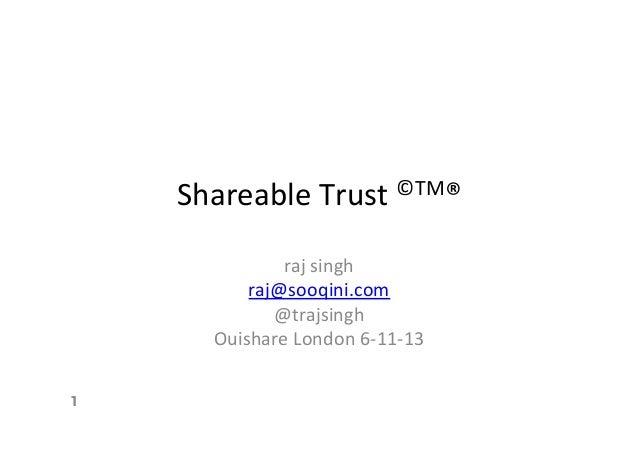 Shareable Trust