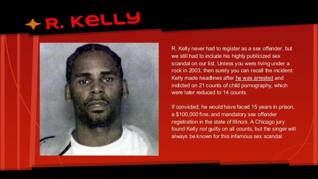 Is r kelly a sex offender