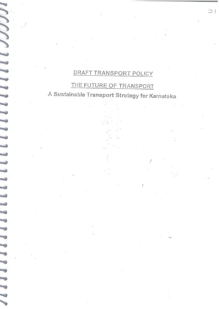 Draft Transport Policy