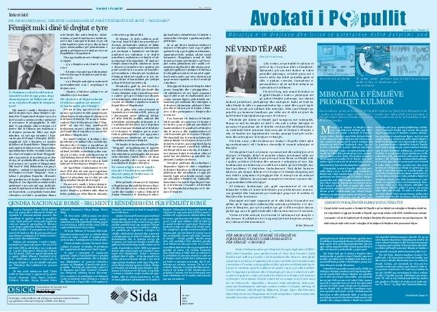 Av o k a t i i P  4  2011 - Numër 3  pullit  Intervistë DR. DRAGI ZMIJANAC, DREJTOR I AMBASADËS SË PARË TË FËMIJËVE NË BOT...