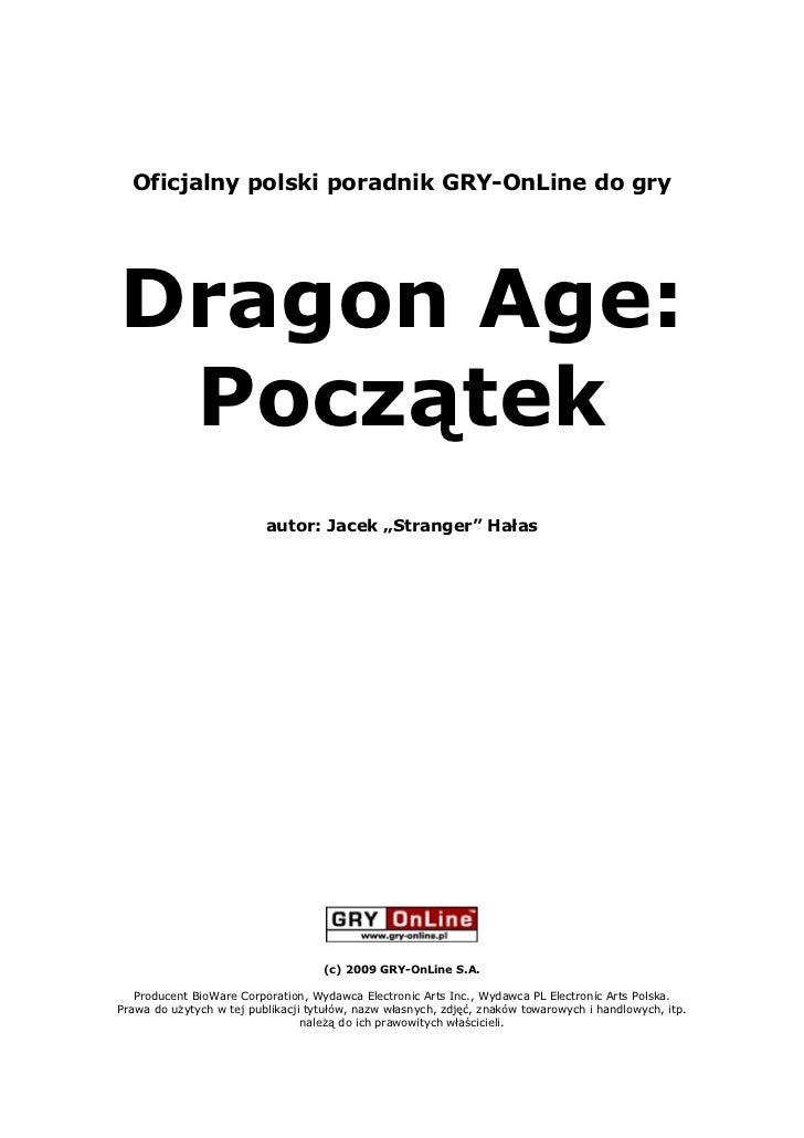 Dragon Age: Origins - Poradnik Gry-OnLine