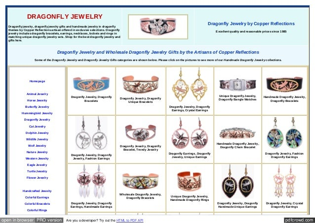 pdfcrowd.comopen in browser PRO version Are you a developer? Try out the HTML to PDF API DRAGONFLY JEWELRY Dragonfly jewel...