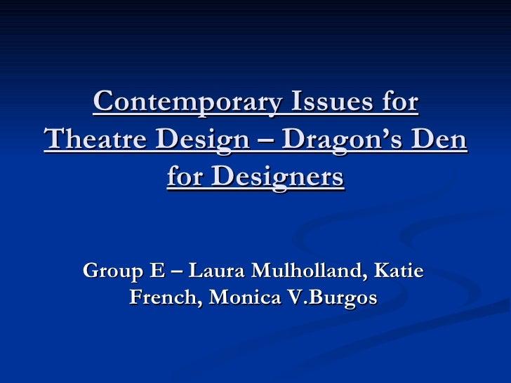 Dragons Den Group E