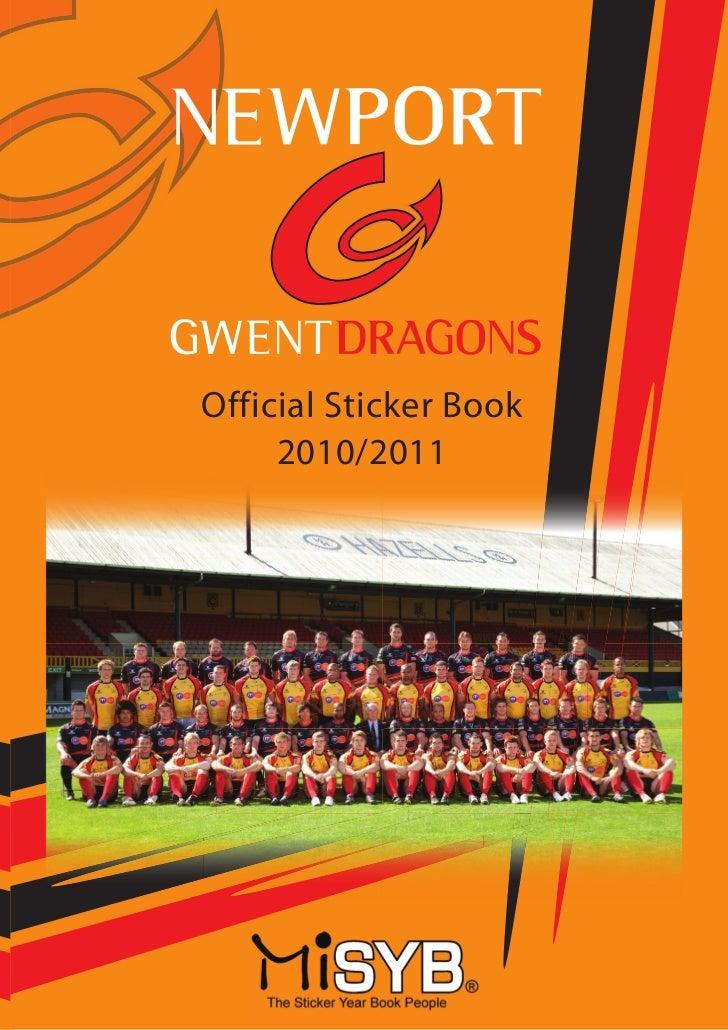 Newport Gwent Dragons Sticker Album