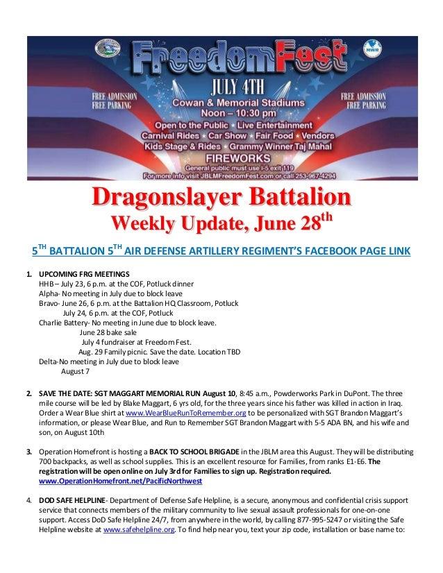 Dragonslayer weekly update 28 jun 13