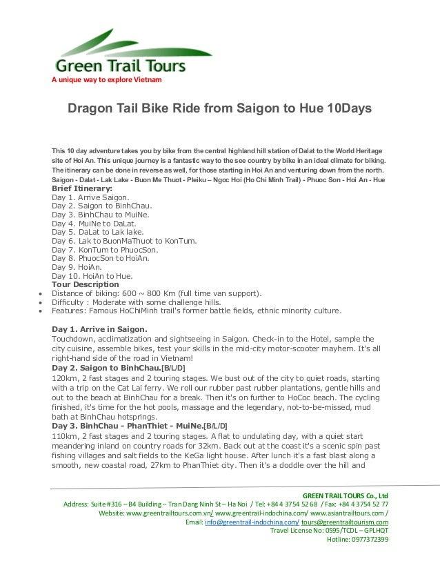 A unique way to explore VietnamGREEN TRAIL TOURS Co., LtdAddress: Suite #316 – B4 Building – Tran Dang Ninh St – Ha Noi / ...