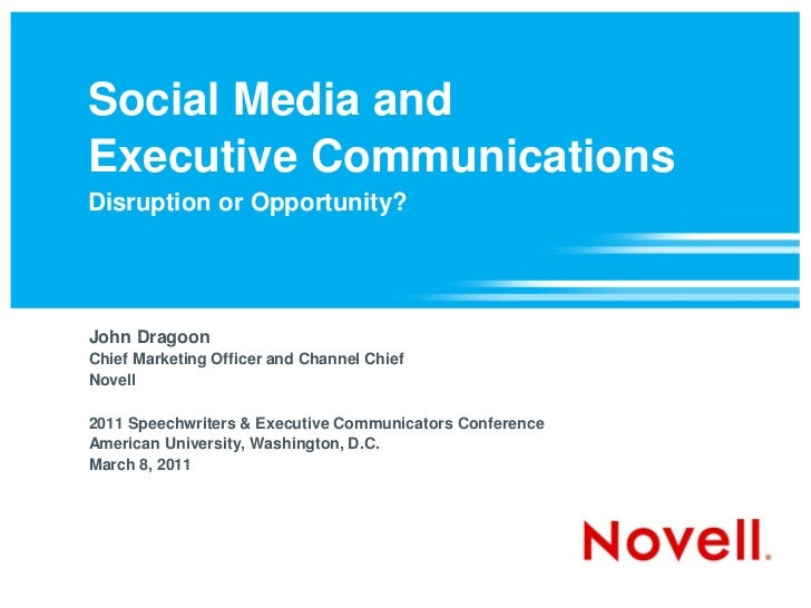 Social Media & Executive Communications: Disruption or Opportunity