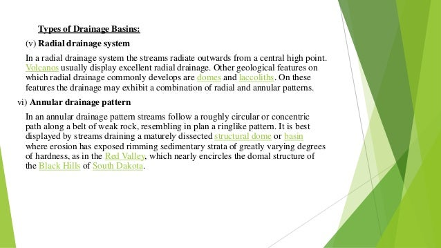 four types of drainage basin stores essay